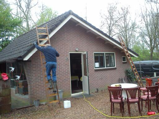 Op de ladder