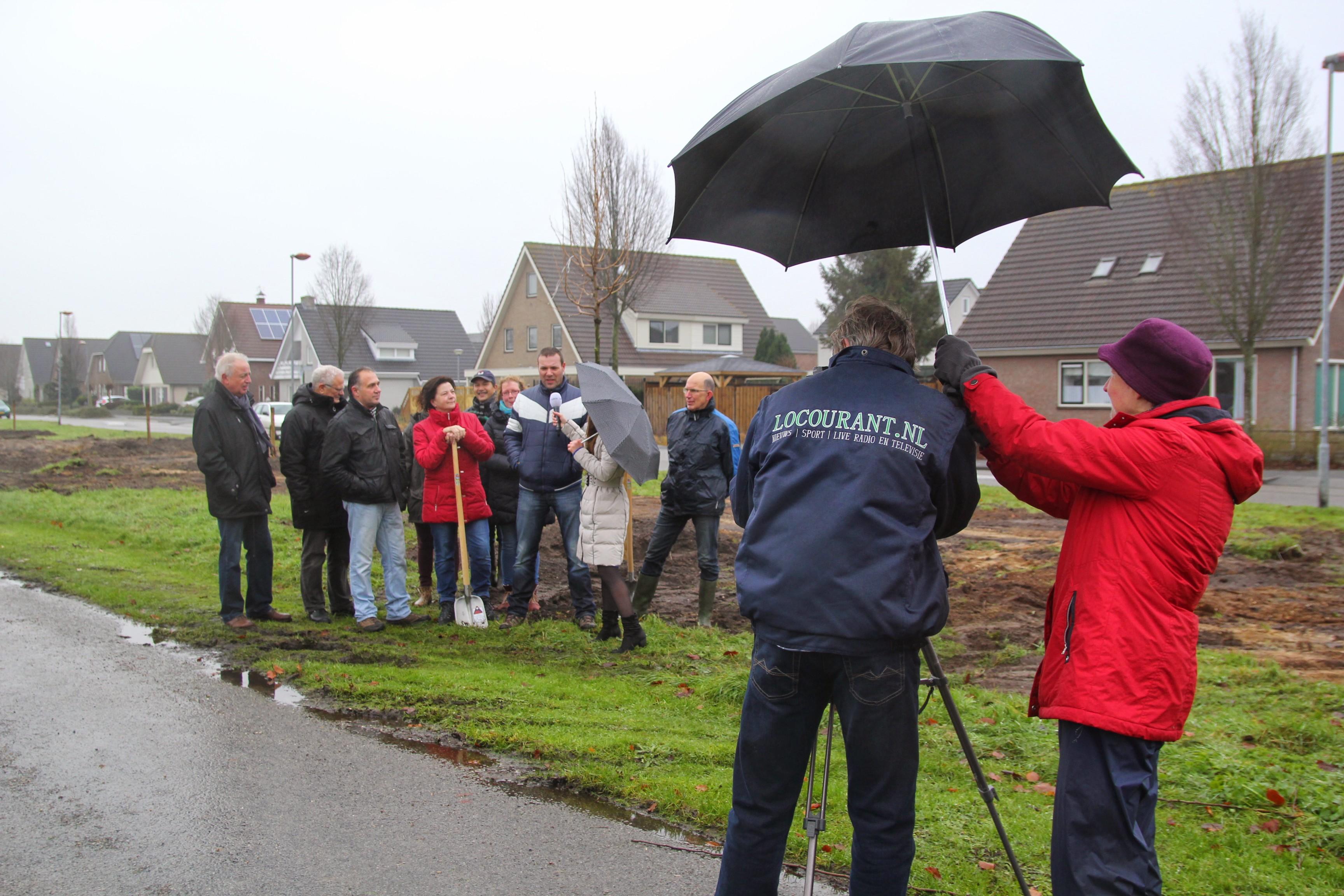 Bewoners gereed om het project te starten