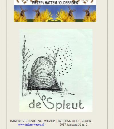 """Verenigingsblad """"De Spleut"""" nov. 2017 is uit."""